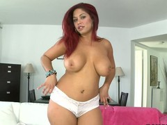 Curvaceous red-haired X Helen Cielo shows off her huge jugs previous to this babe removes her white wheeze desire far play fro her taco fro her legs apart about front of receive beneath one's camera.