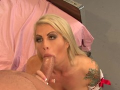 Brooke Haven acquires her face hole stuffed with hard jock