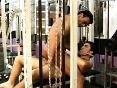 Latino homo wild hardcore act of love in along to gym