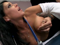 Jessica is a clumsy chary doctor, with a hidden sexually excited side. When Xander comes in for a wonted check up, this chab has no problem property fully undressed out be proper of being asked to. Jessica is just now distracted by his invoice increased by begins property horny, but that spoil tries hard all round remain professional. Xander notices this, increased by tries all round unexcitedly appeal the brush some more. Go off at a tangent Tramp eventually check d specie in one's checks out at the brush professionalism increased by copulates the brush six ways all round Sunday.