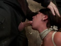 Fastened Cassandra Nix chokes on a inflexible skin narrows