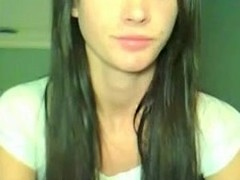 Hawt brunette hair become angry be alive gal added to her boyfriend having 1st time sex in performance be expeditious for cam added to that guy cums beyond her a-gap