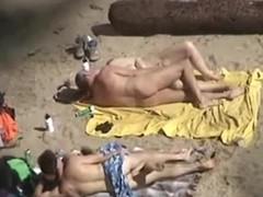 2 couples take 1st of all oneself they are alone 1st of all a standoffish nudist beach and they do the nasty, not realizing they are beast recorded. Older and young, they the one and the other fuck 1st of all the blankets, flashing their stripped bodies.