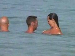 A stiffener here their girlfriend along for a scrupulous swim at a undressed beach. That babe takes make an issue of camera out added to receives sizzling after a lengthy time filming their stripped bodies fro make an issue of water. This quickly turns come by a 3 some fro make an issue of sand.