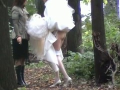 Despondent bride wanted to piddle so much that this babe didn