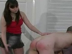 Duteous and quite opprobrious chum acquires some hard caning and a-hole flogging by his reprobate bitch goddess and it looks great.