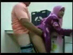 Muslim Enhancing shacking up regarding office with dope-fiend scarf