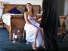 Cute bride getting screwed by several