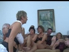 German Aged Swingers Fuck Party