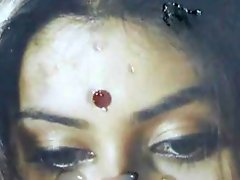 Gman Cum on Face of Indian Celeb Namitha (tribute)
