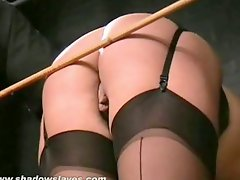English Caning And Thrashing Of Bruised Blond