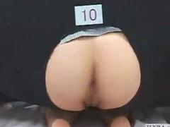 Japanese pornstars play anal gloryhole