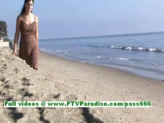 Liliana wicked dark brown legal age teenager flashing pointer sisters and having great time