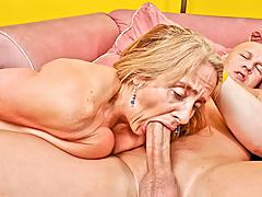 Candy's old fur pie takes a beating from a younger mans dong