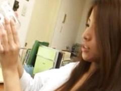 Oriental nurse tugjob surrounding doctors office