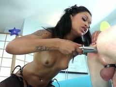 Devian Kade Is Skin Diamond's Little Whore Upon Her Belt On
