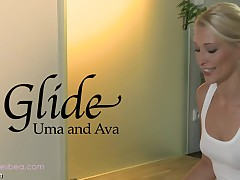 Ava and Uma's awesomely moist and slippery massage sensation