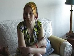 Banana Casting with new shy legal age teenager Eva