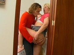 Fat aged housewife surrenders to steamy intercourse with younger dude