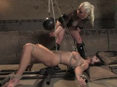 B. Hills enjoys being tied paired with racking in Sadomasochism video with Lorelei Lee