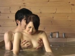 Japanese janitor gives a speculate oral-stimulation nearly a washroom