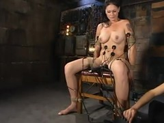 Krissy Kage acquires their way twat whipped paired with drilled with a wired marital-device