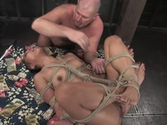 Shaved Oriental sex doll Max is procurement tortured and permeated