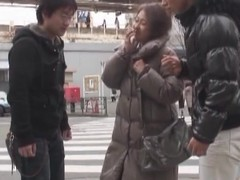 Oriental milf has a 3some with 2 sexually excited guys