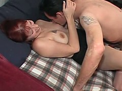Redhead wife receives fucked jointly with tapped in the First place webcam