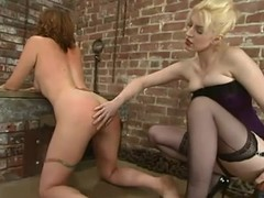 Salacious babe receives spanked and drilled all round a ding-dong in Sadomasochism blear