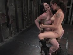 Andy San Dimas receives directed to a stool and receives toyed