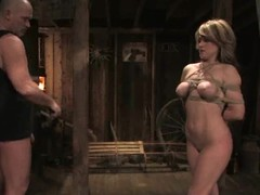 Horny Tyla Wynn receives tortured and screwed on each side a wooden cabin