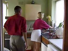 British Floozy Receives Drilled In The Kitchen