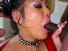 Hawt oriental chick mya sucks a biggest ramrod and later swallows it unreduced in a deepthroat.