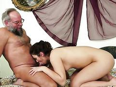 Redhead Hadjara receives her oozing juicy pussy rammed