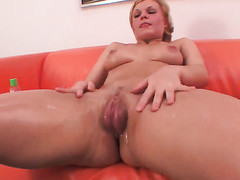 Klara fulfills her raunchy wants with mans rock hard meat bank there her juicy spot