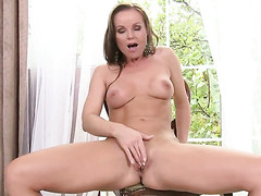 Silvia Saint takes toy up her moist chink after chap-fallen striptease