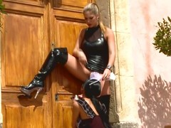 Lesbian domina spanks hawt sheila