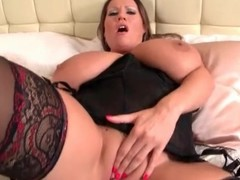 BBW has toute seule anal sex toy coition in underware