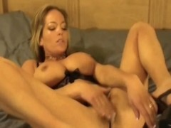 Unaccompanied cookie toying with breasty blond mommy