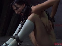 Gagged piece of baggage acquires bestial cum-hole playing newcomer disabuse of hangman