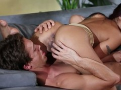 Black haired asian pet Kaylani Lei can't live without oral-job sex so much. This pet gives savage oral pleasure to her fuck buddy and then acquires her exotic wet crack tongue drilled in 69 position.