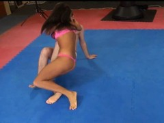 Melanie Memphis wrestles her servant to burnish apply ground